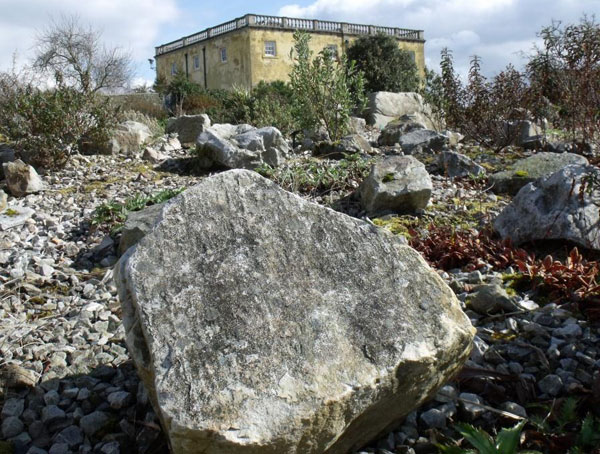 Carboniferous Millstone Grit display at the NBG