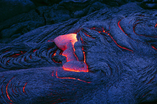 Lava solidifying