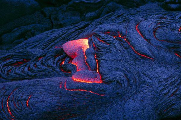 Lava solidifying